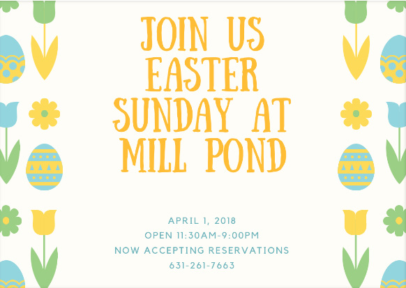 Easter at Mill Pond